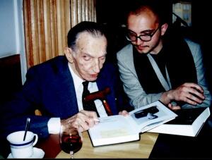 Jan Karski z Mariuszem Kubikiem