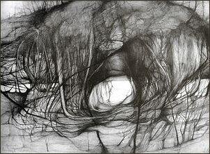 Gniazdo II, rysunek ołówkiem 37x48 cm, 1986