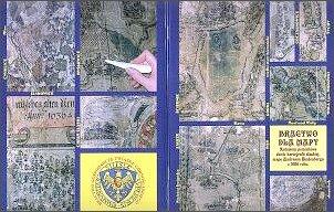 Okładka opracowania 'Bractwo dla mapy' zawierająca fragmenty mapy Hinderberga