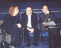 Od lewej: Maria Zmarz-Koczanowicz, Marcel Łoziński, Tadeusz Sobolewski Foto: Ł. Adamczyk