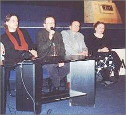 Od lewej: Piotr Łazarkiewicz. Andrzej Titkow, Krzysztof Wierzbicki, Magdalena Łazarkiewicz Foto: Ł. Adamczyk