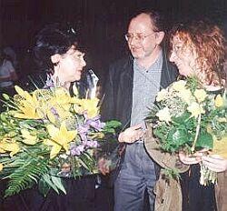 Od lewej: Maria Kieślowska, Tadeusz Sobolewski, Maria Zmarz-Koczanowicz Foto: Ł. Adamczyk