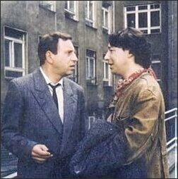 Kadr z 'Dekalogu' (Jerzy Stuhr i Zbigniew Zamachowski) Foto: Archiwum GU