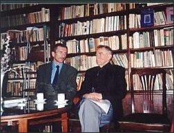 Piotr Szewc i Henryk Bereza. Polski PEN-Club, Warszawa, 23.04.2001 r.