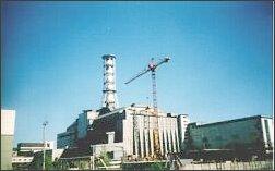 Sarkofag nad zniszczonym reaktorem w Czarnobylu