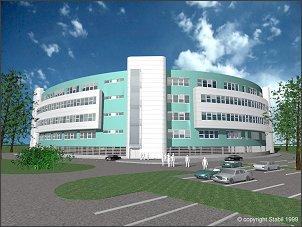 Nowy Budynek Wydziału Prawa - elewacja tylna