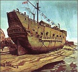 Zbutwiałe wraki statków służyły w Anglii za więzienia