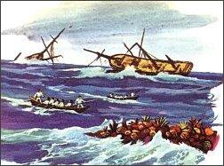 Marynarze w owych czasach umierali młodo - drewniane żaglowce tonęły na niezbadanych wodach