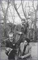Jerzy Giedroyc, Henryk Giedroyc, Zofia Hertz, foto: Archiwum IL