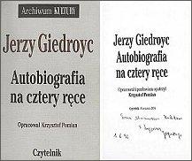 Pierwsze wydanie 'Autobiografii na cztery ręce' ukazało się 1994 r.