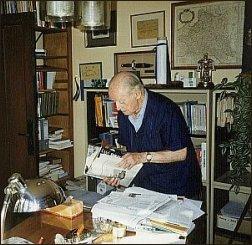 Redaktor 'Kultury' podczas pracy (IX 1997 r.) - foto:   M. Kubik