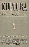 Kultura z maja 1951 r., w której   ukazał się artykuł Cz. Miłosza,tłumaczący powody pozostania  poety na emigracji