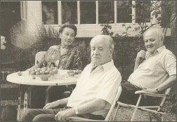 Od lewe: Zofia Hertz, Jerzy Giedroyc, Gustaw Herling-Grudziński,  Foto: Archiwum