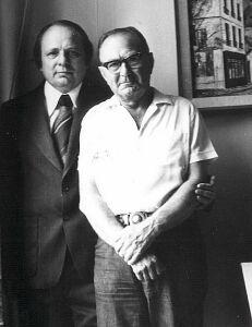 Prof. Andrzej Lasota z ojcem - pierwszym nauczycielem matematyki