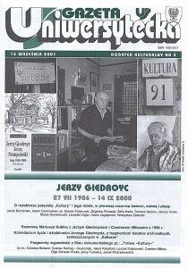 Jerzy Giedroyc - dodatek kulturalny