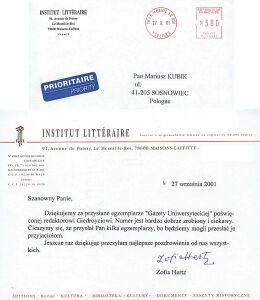 list do redakcji