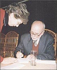 Z Katarzyną Herbertową (grudzień 1999 r.)