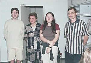 Od lewej stoją Laurenne Lebouvier, prof. dr hab. Alicja Ratuszna, Simon Thibault i dr hab. Jacek Szade