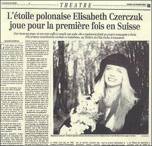 Wywiad w 'Nouveau Quotidien' (Lozanna, Szwajcaria), po przedstawieniu wg NItcheeva