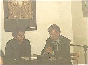 Od lewej: Maciej Melecki, Romuald Cudak - redaktorzy książki pt.: 'Który jest'