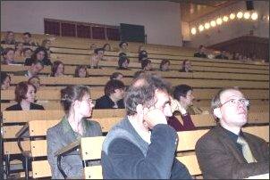 Na pierwszym planie prof. B. Dembiński prof. dr hab. W. Świątkiewicz (wicedyrektor MISH w Katowicach)