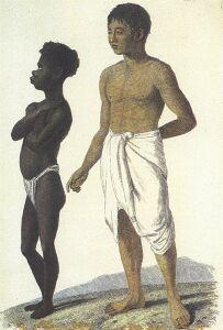 'Papuas, czyli Murzyn z Indyjskich Wysp, oraz wyspiarz z Bali'. Dowolność nazw była wtedy dość przypadkowa