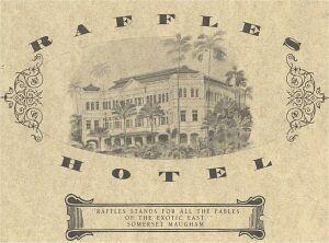 Hotel Raffles w Singapurze. Mieszkał tu m.in. Joseph Conrad