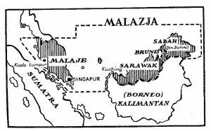 Mapa opisywanych terenów, z czasu podróży autora