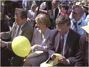 Od lewej: Dariusz Szymczycha(Kancelaria Prezydenta RP), Danuta Hubner, prof. Leszek Balcerowicz