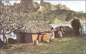 Typowy krajobraz ówczesnych wysp Polinezji
