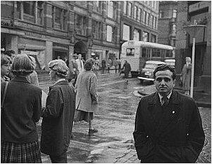 Autor na jednej z ulic Oslo