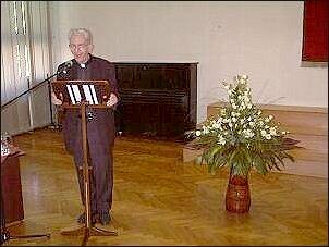 Wykład ks. Adama Bonieckiego    Foto: M. Kubik