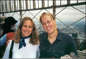 Marielle i ja na Empire State Building