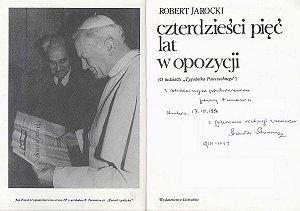"""Książka Roberta Jarockiego poświęcona """"Tygodnikowi"""" (Wyd. Literackie, Kraków 1990)"""