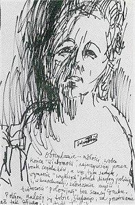 Stefania Kossowska - portret Feliksa Topolskiego