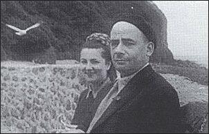 Stefania Kossowska z Mieczysławem Grydzewskim, Kornwalia 1950 r.