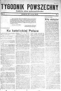 Pierwszy numer Tygodnika Powszechnego (24 marca 1945)