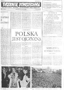 Pierwszy numer TP po odwieszeniu pisma przez władze stanu wojennego