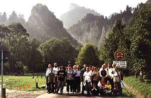 Uczestnicy wycieczki w Dolinie Leśnickiego Potoku w Słowacji