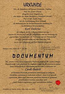 Dokument przekazania archiwum Uniwersytetowi im. Adama Mickiewicza w Poznaniu