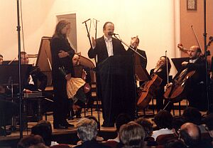 Podziękowania od orkiestry i dyrygenta Jana Wincentego Hawela dla prof. Sławka