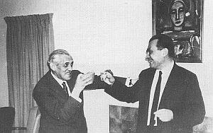 Aleksander Wat i Czesław Miłosz. Berkeley 1964 (Foto: Archiwum ZL)