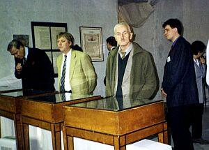 Zwiedzanie wystawy W królestwie szpargałów - 70 lat archiwum Państwowego w Katowicach.