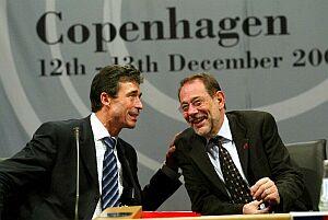 Premier Danii Rasmussen i szef unijnej dyplomacji Javier Solana