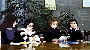 Uczestniczki konferencji - członkinie Studenckiego Koła Naukowego Krytyki Literackiej Foto: B. Biczkowska