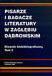 Pisarze i badacze literatury w Zagłębiu Dąbrowskim - okładka