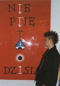 Jeden z najbardziej widocznych ostatnio na ulicach Katowic społecznych plakatów Romana Kalarusa
