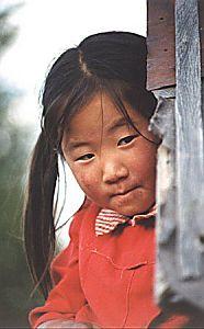 Mongolska dziewczynka