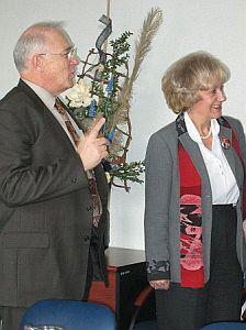 Daniel Hays - Przewodniczący Senatu Kanady i Genowefa Grabowska - Senator RP