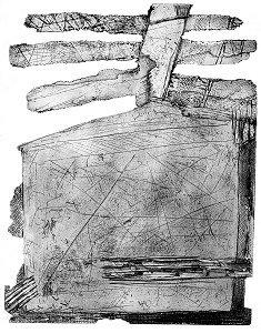 Z cyklu: ''Il y a de tout (YADTOUT)'', akwaforta z akwatintą, 1994 (51x 67 cm)